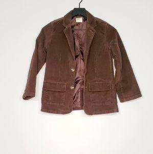 Crazy 8 kids corduroy brown Jacket